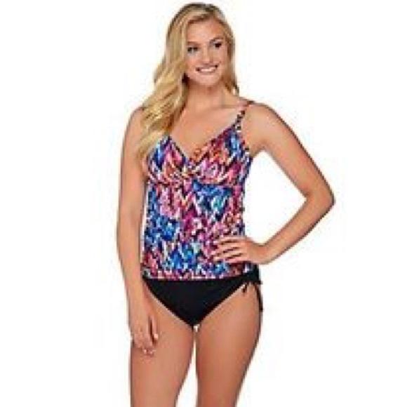 3d396d8e89 Miraclesuit Swim   Dream Shaper By Tankini Skirt Suit Size 26w ...